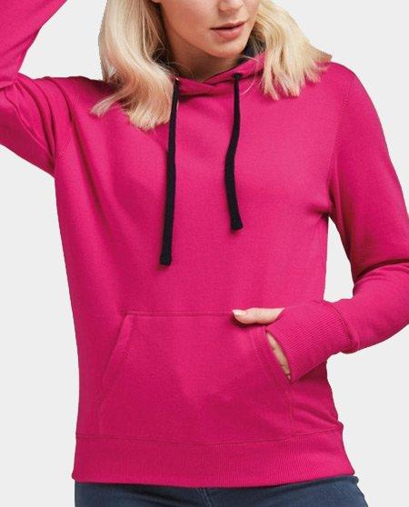 contrast hoodie dames