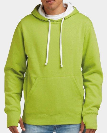 contrast hoodie heren