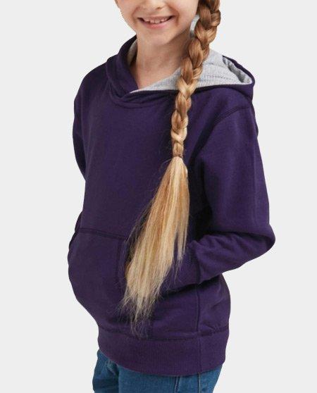 hoodie contrast jr